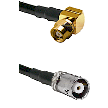 SMC Right Angle Female on RG142 to MHV Female Cable Assembly