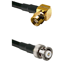 SMC Right Angle Female on RG142 to MHV Male Cable Assembly