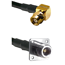 SMC Right Angle Female on RG142 to N 4 Hole Female Cable Assembly