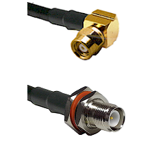 SMC Right Angle Female on RG142 to TNC Reverse Polarity Female Bulkhead Cable Assembly