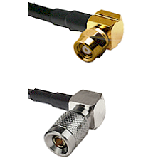 SMC Right Angle Female on RG174 to 10/23 Right Angle Male Cable Assembly