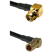 SMC Right Angle Female on RG174 to SLB Right Angle Female Cable Assembly