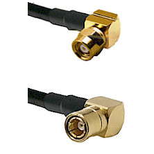 SMC Right Angle Female on RG188 to SMB Right Angle Female Cable Assembly