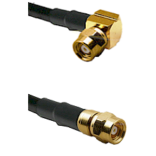 SMC Right Angle Female on RG188 to SMC Female Cable Assembly