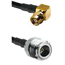 SMC Right Angle Female on RG400 to N Female Cable Assembly