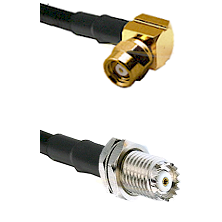 SMC Right Angle Female on RG58C/U to Mini-UHF Female Cable Assembly