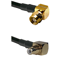 SMC Right Angle Female on RG58C/U to SMC Right Angle Male Cable Assembly
