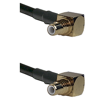 SMC Right Angle Male on Belden 83242 RG142 to SMC Right Angle Male Cable Assembly