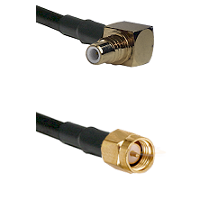 SMC Right Angle Male on Belden 83242 RG142 to SMA Male Cable Assembly