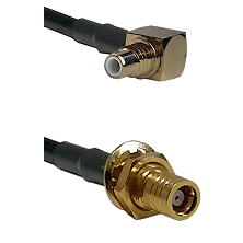 SMC Right Angle Male on Belden 83242 RG142 to SMB Female Bulkhead Cable Assembly