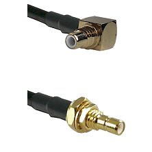 SMC Right Angle Male on Belden 83242 RG142 to SMB Male Bulkhead Cable Assembly
