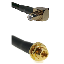 SMC Right Angle Male on LMR100 to MMCX Female Bulkhead Cable Assembly