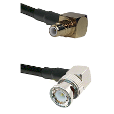 SMC Right Angle Male on LMR100 to BNC Right Angle Male Cable Assembly