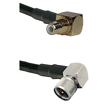 SMC Right Angle Male on LMR-195-UF UltraFlex to Mini-UHF Right Angle Male Cable Assembly