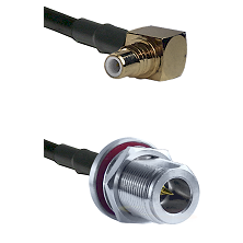SMC Right Angle Male on LMR-195-UF UltraFlex to N Reverse Polarity Female Bulkhead Coaxial Cable Ass