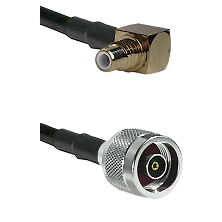 SMC Right Angle Male on LMR-195-UF UltraFlex to N Reverse Polarity Male Cable Assembly