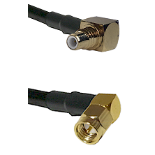 SMC Right Angle Male on LMR-195-UF UltraFlex to SMA Right Angle Male Cable Assembly