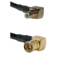 SMC Right Angle Male on LMR-195-UF UltraFlex to SMB Right Angle Female Cable Assembly