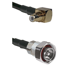 SMC Right Angle Male on LMR200 UltraFlex to 7/16 Din Male Cable Assembly