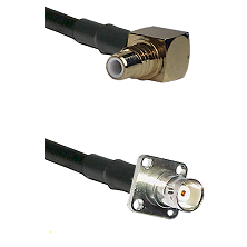 SMC Right Angle Male on LMR200 UltraFlex to BNC 4 Hole Female Cable Assembly