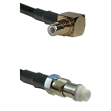 SMC Right Angle Male on LMR200 UltraFlex to FME Female Cable Assembly