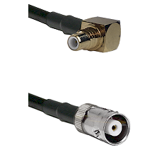SMC Right Angle Male on LMR200 UltraFlex to MHV Female Cable Assembly