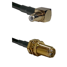 SMC Right Angle Male on LMR200 to SMA Reverse Polarity Female Bulkhead Cable Assembly