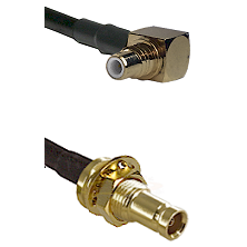 SMC Right Angle Male on RG142 to 10/23 Female Bulkhead Cable Assembly