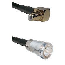 SMC Right Angle Male on RG142 to 7/16 Din Female Cable Assembly