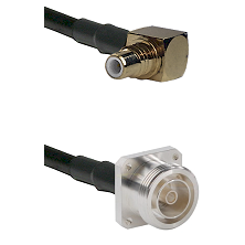 SMC Right Angle Male on RG142 to 7/16 4 Hole Female Cable Assembly