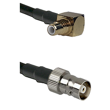 SMC Right Angle Male on RG142 to C Female Cable Assembly