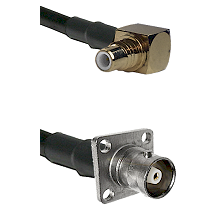 SMC Right Angle Male on RG142 to C 4 Hole Female Cable Assembly