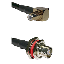 SMC Right Angle Male on RG142 to C Female Bulkhead Cable Assembly
