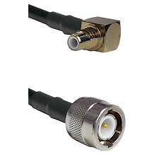 SMC Right Angle Male on RG142 to C Male Cable Assembly