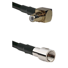 SMC Right Angle Male on RG142 to FME Male Cable Assembly