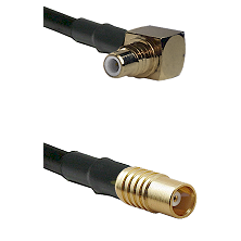 SMC Right Angle Male on RG142 to MCX Female Cable Assembly