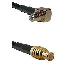 SMC Right Angle Male on RG142 to MCX Male Cable Assembly