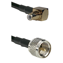 SMC Right Angle Male on RG142 to Mini-UHF Male Cable Assembly