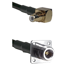 SMC Right Angle Male on RG142 to N 4 Hole Female Cable Assembly