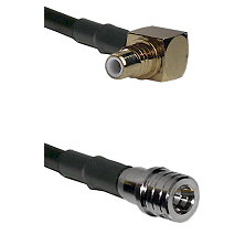 SMC Right Angle Male on RG400 to QMA Male Cable Assembly