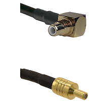 SMC Right Angle Male on RG400 to SSLB Male Cable Assembly