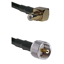 SMC Right Angle Male on RG400 to UHF Male Cable Assembly