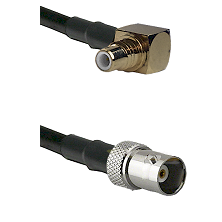 SMC Right Angle Male on RG58C/U to BNC Female Cable Assembly