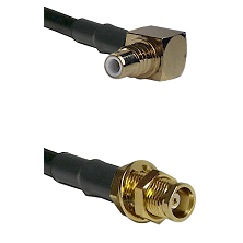 SMC Right Angle Male on RG58C/U to MCX Female Bulkhead Cable Assembly