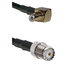 SMC Right Angle Male on RG58 to Mini-UHF Female Cable Assembly
