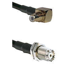 SMC Right Angle Male on RG58C/U to Mini-UHF Female Cable Assembly