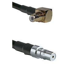 SMC Right Angle Male on RG58C/U to QMA Female Cable Assembly
