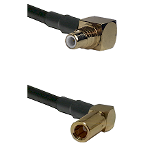 SMC Right Angle Male on RG58C/U to SLB Right Angle Female Cable Assembly