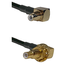 SMC Right Angle Male on RG58C/U to SLB Male Bulkhead Cable Assembly