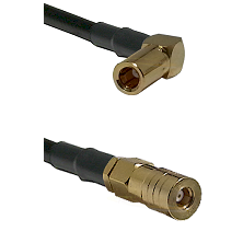 SSLB Right Angle Female on Belden 83242 RG142 to SSLB Female Cable Assembly